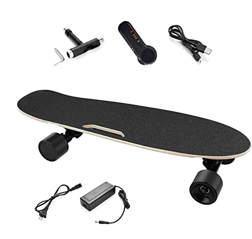 Electric Skateboard with Wireless Adult Remote Control Portable 7-Layer Maple...
