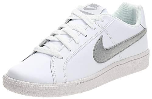 Nike Damen WMNS Court Royale Tennisschuhe, Weiß (White/Metallic Silver), 39 EU