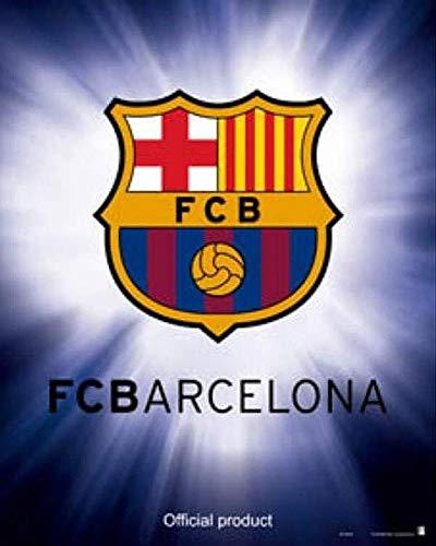 Close Up Póster FC Barcelona - Escudo de la Força Barça (40cm x 50cm) + 1 póster Sorpresa de Regalo