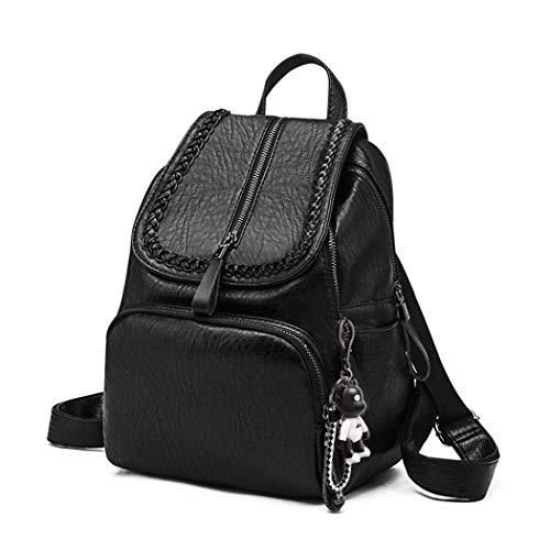 BUKESIYI Women's Backpack Handbags Rucksack Shoulder Bags PU Leather Mini Kawaii Anti-theft CCUK78251 Black