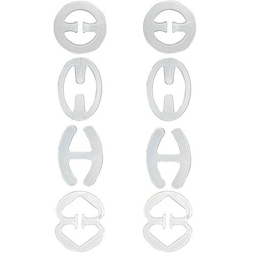 Closecret Damen BH-Träger Konverter-Verdecker Racerback Rückenclip (Durchsichtig, 8-er Packung)