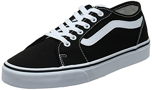 VANS Filmore Decon, Zapatillas Hombre, Negro Canvas Black/White 187, 44.5 EU