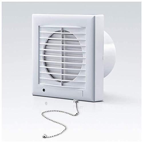 Lcxligang D 5 Pulgadas conmutador de extracción del Cable Baño Extractor con Wall Baffle Techo del baño Inline conducto de Escape Ventilador de ventilación eficiente 150 m³ / h de Ruido 41dB for baño