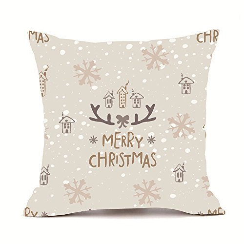 Kissenbezüge Weihnachten,LuckyGirls Cashmere-Feeling, 45 x 45 cm, Sofa Pillowcase Home Decor