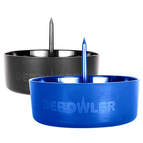 Debowler Original Ashtray Smoking Pipe Cleaning Tool - 2020 Version - 2 Pack (Blue + Black)