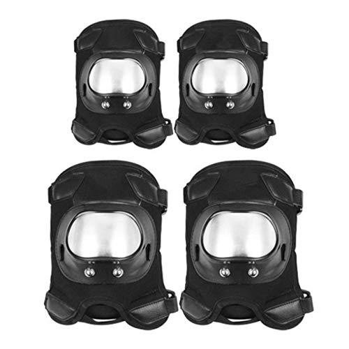 GWHW Rodilleras para motocicleta, motocross, rodilleras protectoras, ajustables para motocross, bicicletas, patinetas, rodilleras, protección para adultos
