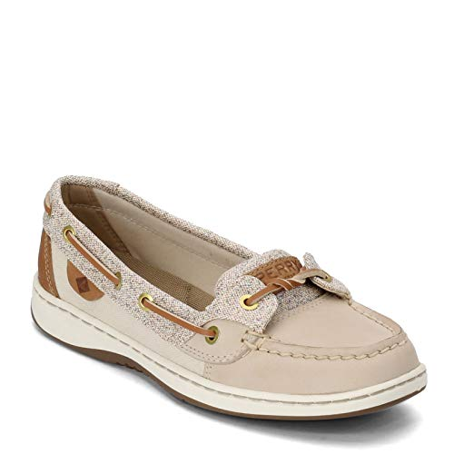 Sperry Top-Sider womens Angelfish loafers shoes, Confetti Oat, 5 US