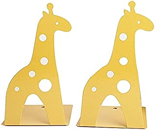 SeeS Creative Cartoon Giraffe Hollow Bookend Kids Book End Non-slip Bookends(Yellow)