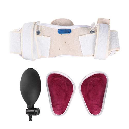 Leistenbruch gürtel für Männer, Leistenbruchgürtel Leistenstütze Erwachsener Mann Zwei abnehmbare Kompressionspolster und verstellbarer Leistengurt Geeignet für Schmerzlinderung