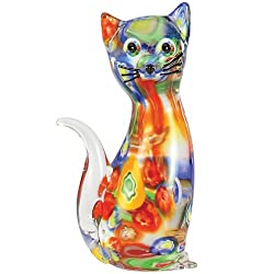 A glass cat is perfect for gift ideas for the letter G.