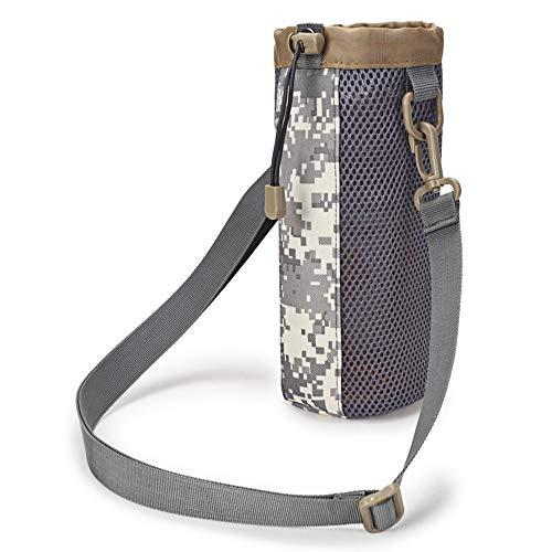 Selighting Taktisch Flaschenhalter Militär Trinkflasche Beutel Trinkflasche Halter für Outdoor Wandern Camping Trekking (Camouflage grau)