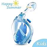 ORSEN Tauchmaske Vollgesichtsmaske für Kinder, Faltbare Schnorchelmaske Vollmaske mit 180° Sicht...