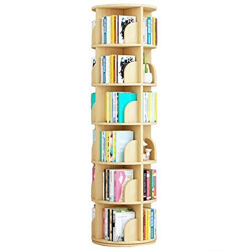 Librero De Pie Estantería de Esquina, Moderno Rotación de 360° Soporte de Pantalla de Almacenamiento para la Sala de Estar de la Oficina en Casa, Ahorro de Espacio (Size : 6-Tier(39×191cm))