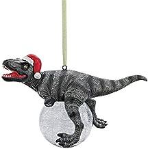 Design Toscano Blitzer the T Rex Dinosaur Christmas Tree Ornament, 5 Inch, Single