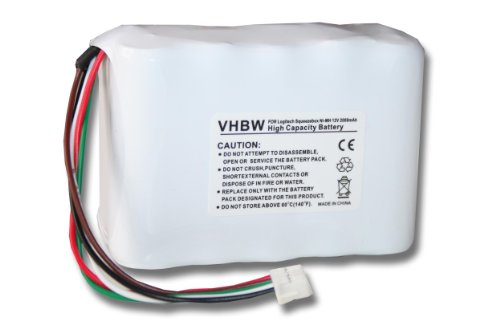 vhbw NI-MH Akku 2000mAh (12V) passend für LOGITECH Squeezebox Radio ersetzt 533-000050, NT210AAHCB10YMXZ, HRMR15/51.