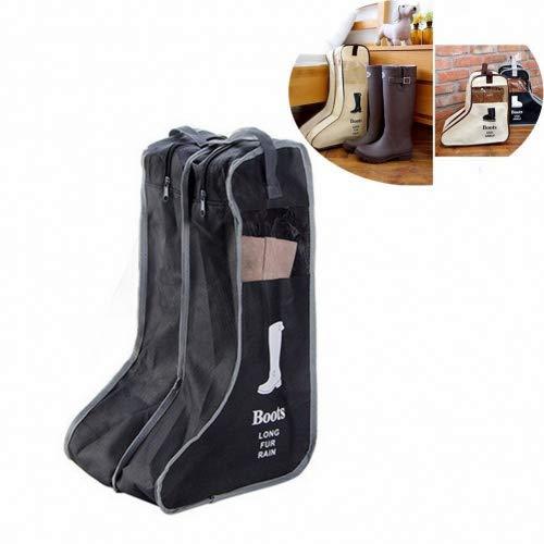 Schuhtasche, Chickwin 2PCS Set Wasserabweisend Schuhbeutel mit Zugband Wasserabweisend Schmutzabweisender Schuhsack Reise Trennung von Schuhen Kleidung Reisezubehör Shoe Boot Bag (Schwarz, 29*47*24cm)