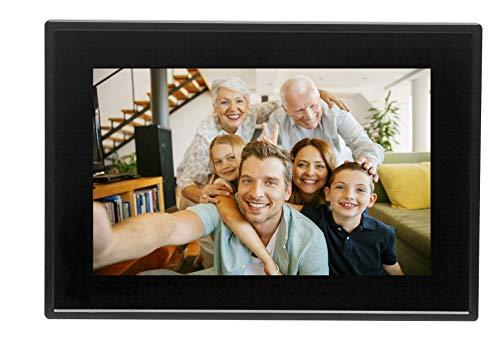 """Marco digital de fotos de 10.1"""" con Wi-Fi. Comparte fotos al instante desde la aplicación móvil. Temporizador. Pantalla táctil con panel IPS. Resolución: 800x1280"""