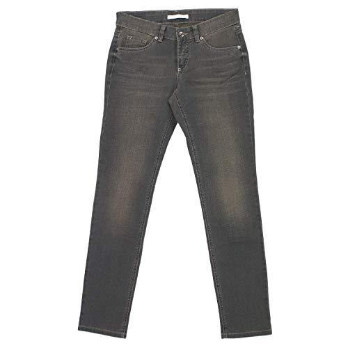 MAC, Carrie Pipe, Damen Damen Jeans Hose Stretchdenim Elefantengrau Used D 44 Inch 34 L 32 [18493]