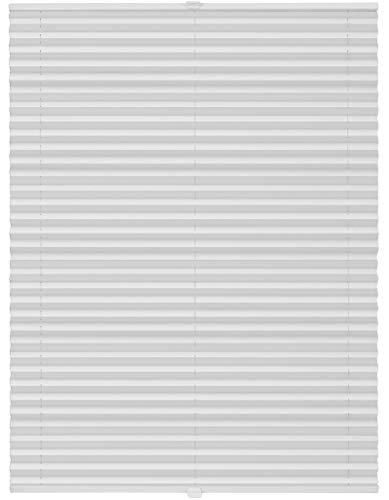 ondeco Plissee auf Maß für alle Fenster innen, Montage in Glasleiste mit Spannschuh, Sonnenschutz-Rollo lichtschutz und Blickdicht Weiß B: 71-80 cm, H: 151-200 cm
