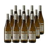 Vin de Savoie Apremont Blanc 2020 - Philippe et Sylvain Ravier - Vin AOC Blanc de Savoie - Bugey - Lot de 12x75cl - Cépage Jacquère