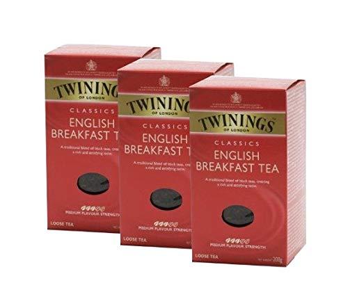 Twinings English Breakfast loser Tee 200g, 3er Pack (3 x 200g)