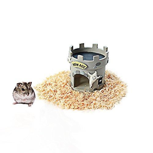 HongYH Hamster Haus, Ratten Höhle Versteck für Reptilien, Kunstharz Hamster Betten, Hamster Käfig Zubehör für Kleintiere Chinchilla Hamster Ratten Reptile Eidechse Gecko Spider, Turm