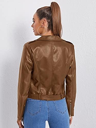 Abrigo de la chaqueta de las tapas para mujer Chaqueta de moto del detalle del...