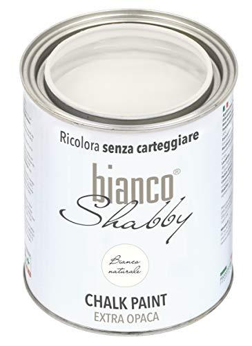 CHALK PAINT Bianco Naturale per Mobili e Pareti - Pittura Shabby Chic Vintage EXTRA OPACA (1 Litro)