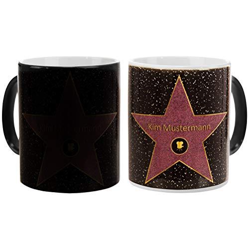 Geschenke 24 Magic Mug Walk of Fame - personalisierte Farbwechsel Tasse: Kaffeebecher mit Personalisierung - Becher mit Name - für Tee und Kaffee mit Wunschname Bedruckt…
