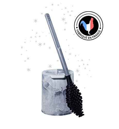 Biom Paris – BBB La Cepillo, escobilla higiénica sin cerdas con soporte – Color: gris estrella – Materiales orgánicos cedidos y reciclados – Fabricado en Francia