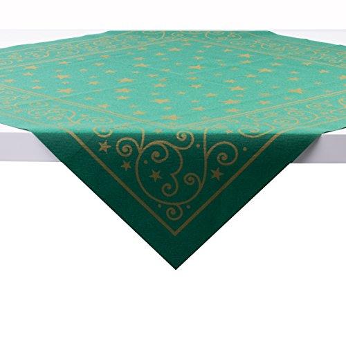 Sovie HORECA Tischdecke Liam in Grün | aus Linclass® Airlaid | Weihnachtsdecke Advent | 80 x 80 cm | 20 Stück