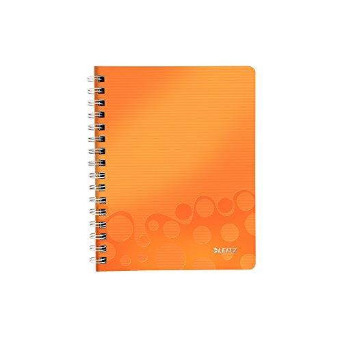 LEITZ WOW Blocco PP 80 fogli a righe A5 - Arancione - 46390044