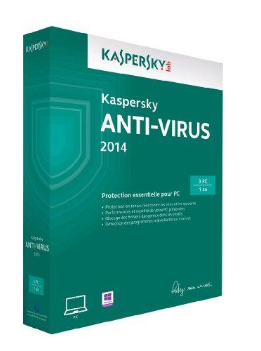 Kaspersky antivirus 2014 (3 postes, 1 an)