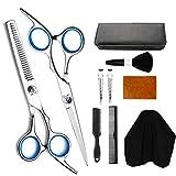 Set de tijeras de peluquería para hombre y mujer, 10 unidades de tijeras profesionales para peluquería o en casa