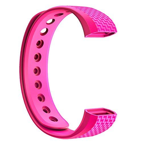 NINETEC Ersatz-Armband für Smartfit F3 & F3HR Fitnesstracker Wechsel Band Pink