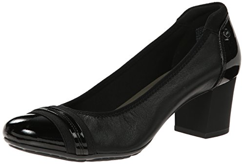 Anne Klein Sport Women's Guardian Leather Dress Pump, Black, 5 M US
