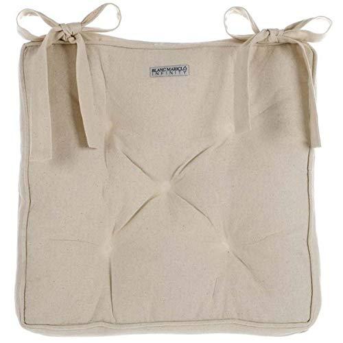Blanc Mariclò Cuscino Sedia, Collezione Infinity, Naturale, 40x40 cm