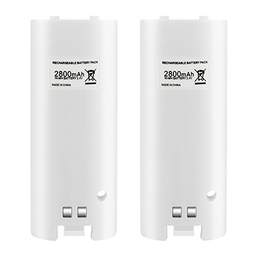 Wii Rechargeable Battery N01 for Wii Remote Charger-White