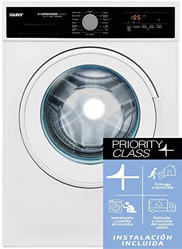 Sauber - Lavadora de carga frontal WM20814-8 kg - 1400 RPM - A+++ - Color Blanco - INSTALACIÓN INCLUIDA