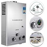 VEVOR Calentador de Gas 6L/8L/10L, Calentador de Agua de Gas, Calentador de Agua a Gas LNG, Calentador Gas Natural, Calentador de Agua (6L)