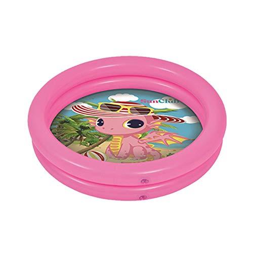QIEZI Piscina Inflable para bebés, Piscina Inflable portátil para niños con diseño de Dinosaurio Lindo, Centro de Juegos de Agua para niños para el Verano Caliente en Interiores y Exteriores