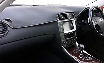 20系レクサスIS用 高級PVCレザー 白ステッチ ダッシュボードマット for LEXUS IS GSE2#