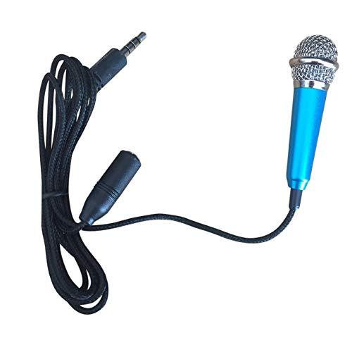 Handy-Karaoke-Mikrofon Universal K Sing-Mikrofon Karaoke-Artefakt Handy-Mikrofon Mini-Mikrofon (Blau & Metall (ohne Kopfhörer))