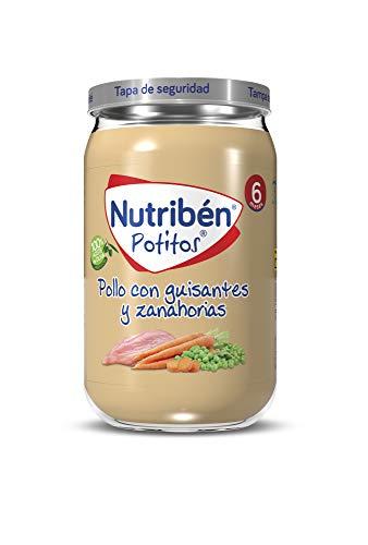 Nutribén Potitos de Pollo con Guisantes y Zanahoria, Desde Los 6 Meses, 235g