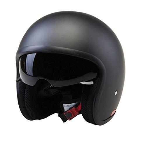 Viper Motorrad JETHELM RS-V06 Motorroller Helm (M, Matt Schwarz)