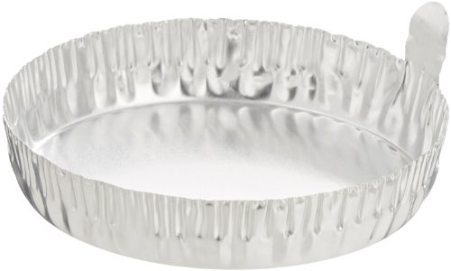 Eagle Thermoplastics D70-100 Aluminum Disposable Round Crinkle Weighing Dish with Tabs, 80mL Capicity (Case of 1000)