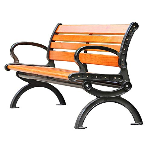 Stool child Park Bench Outdoor Cast Iron Bench, Garden Lounge Chair 2-seater Garden Chair, Scenic Spot/square Waiting Chair Solid wood Bench