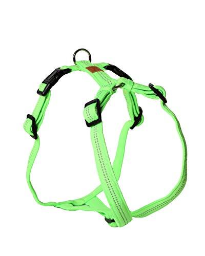 Feltmann Hundegeschirr - Super Soft, neongrün, reflektierend, Bauchumfang 60-80 cm, 25 mm Bandbreite