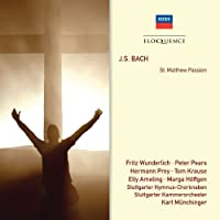 Bach J.S: St Matthew Passion by PEARS / STUTTGART CHAMBER ORCH / MUNCHINGER (2011-05-31)