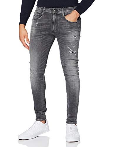 Replay Bronny Jeans, 96 gris medio, 27W x 30L para Hombre